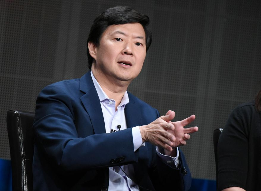 "Ken Jeong participates in the ""Dr. Ken"" panel at the Disney/ABC Summer TCA Tour at the Beverly Hilton Hotel on Tuesday, Aug. 4, 2015, in Beverly Hills, Calif. (Photo by Richard Shotwell/Invision/AP)"