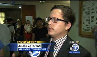 Huntington Park is the first city in California to appoint two illegal immigrants as commissioners, a councilman said Monday. Councilman Jhonny Pineda appointed Francisco Medina to the health and education commission and Julian Zatarain, pictured here, to the parks and recreation commission. (KABC)