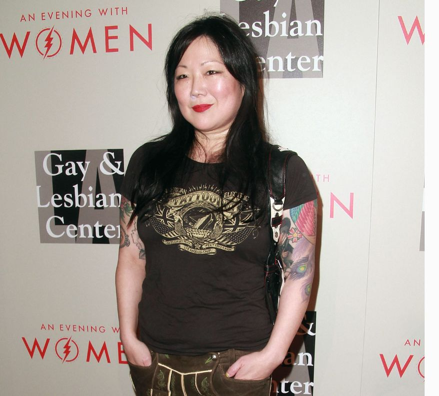"""In regards to her new show, """"PsyCHO,"""" Margaret Cho said """"The subtitle of the show is """"There's no 'I' in team, but there is a CHO is psycho."""" (Associated Press)"""