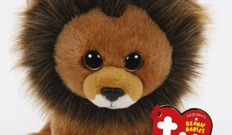 """A """"Cecil the Lion"""" Beanie Baby is due to hit store shelves next month with proceeds going toward wildlife conservation, Ty Warner has announced. (PR Newswire)"""