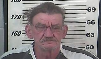 This Wednesday, Aug. 5, 2015, photo released by the Perry County Sheriff's Department shows Alfred Baria. Authorities took Baria into custody after soldiers participating in a training exercise heard noises they believed were gunshots around the fringes of Camp Shelby. (Perry County Sheriff's Department via AP)