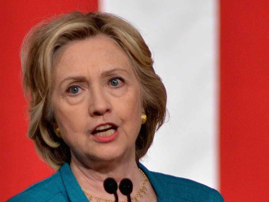Hillary Rodham Clinton pledged to make voting rights a litmus test for her Supreme Court nominees if she becomes president. (Associated Press/File)