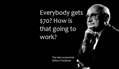 The late economist Milton Friedman. Image in public domain.