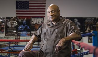 George Foreman, former heavyweight boxing champion who is now a minister, poses for a portrait at the George Foreman Youth Center in Houston, July 23, 2015. (Brett Coomer/Houston Chronicle via AP) ** FILE **