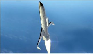 An illustration depicts The Defense Advanced Research Projects Agency vision for new XS-1 spacecraft. (Image: DARPA screen grab)