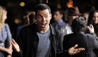 "Steve-O, a cast member in ""Jackass 3D,"" poses at the premiere of the film in Los Angeles in this Wednesday, Oct. 13, 2010, file photo. Steve-O was arrested on Sunday, Aug. 9, 2015, for climbing a crane in Hollywood in a protest against Seaworld. (AP Photo/Chris Pizzello, File)"