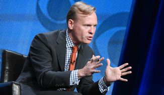 Political Director, CBS News, John Dickerson, participates in the CBS News panel at the CBS Summer TCA Tour at the Beverly Hilton Hotel on Monday, Aug. 10, 2015, in Beverly Hills, Calif. (Photo by Richard Shotwell/Invision/AP)