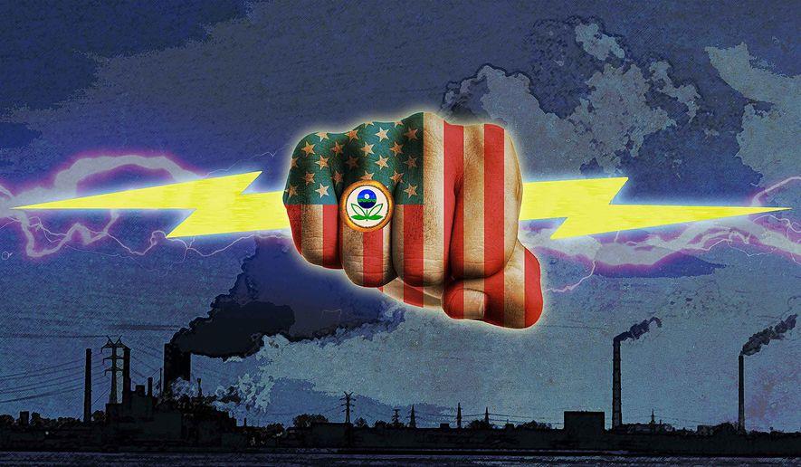 EPA Power Grab Illustration by Greg Groesch/The Washington Times