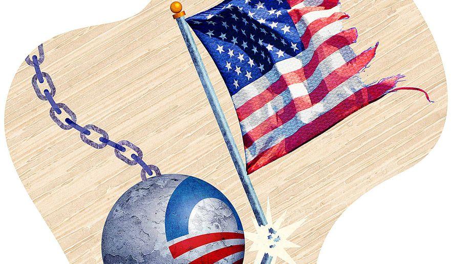 Fundamentally Wreck America Illustration by Greg Groesch/The Washington Times
