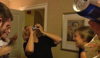 """Missouri Sen. Claire McCaskill tweeted photographic evidence Sunday of her shotgunning a Bud Light following skepticism of a claim she made in her new memoir """"Plenty Ladylike."""" (Twitter/@PlentyLadyLike)"""