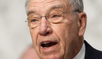 Senate Judiciary Committee Chairman Chuck Grassley, the Iowa Republican who has emerged as a key watchdog on Obamacare, said some exchange customers could intentionally misestimate their earnings, breach the cap and then avoid having to pay it all back. (Associated Press)