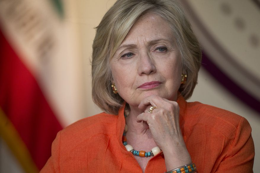 Hillary Rodham Clinton had initially said no classified information was sent or received on her server, though she has more recently clarified that only means no material that was officially marked as classified at the time. (Associated Press)
