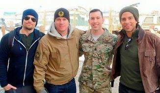 Channing Tatum posted a photo tribute on social media Monday honoring Green Beret Master Sgt. Peter Andrew McKenna, who was killed over the weekend in Kabul, Afghanistan. (Facebook/Channing Tatum)