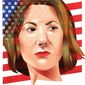 Illustration of Carly Fiorina by Linas Garsys/The Washington Times