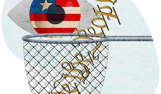 Government Fishing Net Illustration by Greg Groesch/The Washington Times