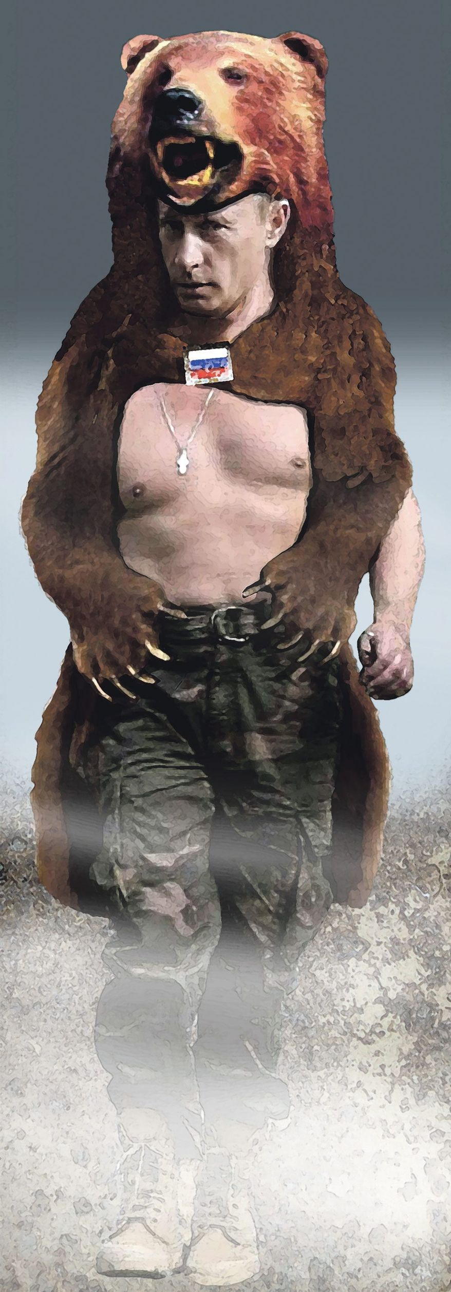 Illustration on Vladimir Putin by Alexander Hunter/The Washington Times