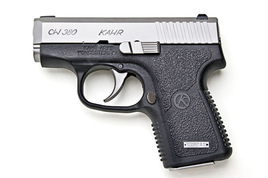 The Kahr P380 features an overall length of just 4.9 inches and a width of three-quarters of an inch.