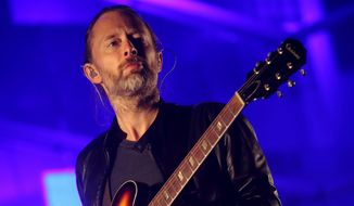 """In this Oct. 6, 2013, file photo, Thom Yorke performs at the 2013 Austin City Limits Music Festival in Austin, Texas. Yorke is going Broadway, as he's written original music for the upcoming revival of the play """"Old Times,"""" by Harold Pinter. (Photo by John Davisson/Invision/AP, File)"""
