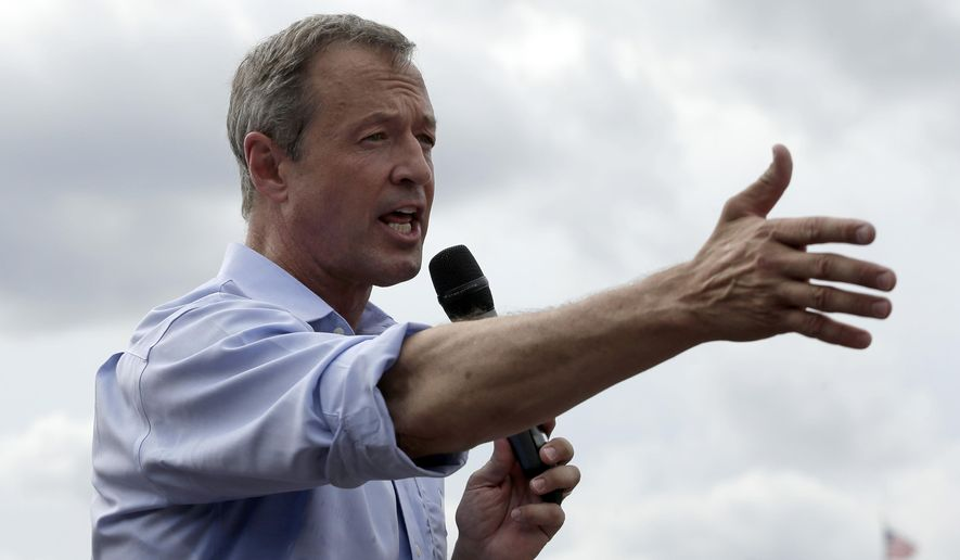Democratic presidential candidate, former Maryland Gov. Martin O'Malley, speaks at the Iowa State Fair Thursday, Aug. 13, 2015, in Des Moines. (AP Photo/Charlie Riedel) ** FILE **
