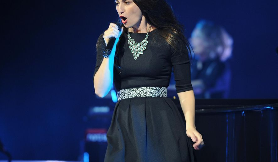 "FILE - In this July 25, 2014 file photo, Sara Bareilles performs during the Little Black Dress Tour 2014 at the Seminole Casinos Hard Rock Live in Hollywood, Fla. The Bareilles' musical ""Waitress"" has found a Broadway home. Producers Barry and Fran Weissler said Thursday, Aug. 13, 2015, that the adaptation of the 2007 film starring Keri Russell will play the Brooks Atkinson Theatre beginning in April.  (Photo by (Photo Jeff Daly/Invision/AP, File)"