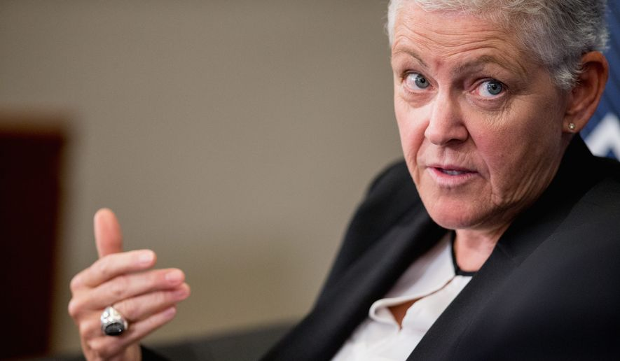"Environmental Protection Agency Administrator Gina McCarthy who has apologized repeatedly for the spill, called the accident ""a heartbreaking situation for the EPA,"" according to the Navajo Times. She met privately Thursday with top tribal officials. (Associated Press)"