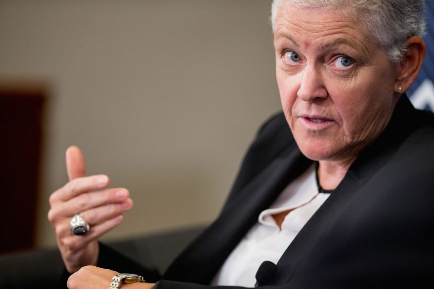 """Environmental Protection Agency Administrator Gina McCarthy who has apologized repeatedly for the spill, called the accident """"a heartbreaking situation for the EPA,"""" according to the Navajo Times. She met privately Thursday with top tribal officials. (Associated Press)"""