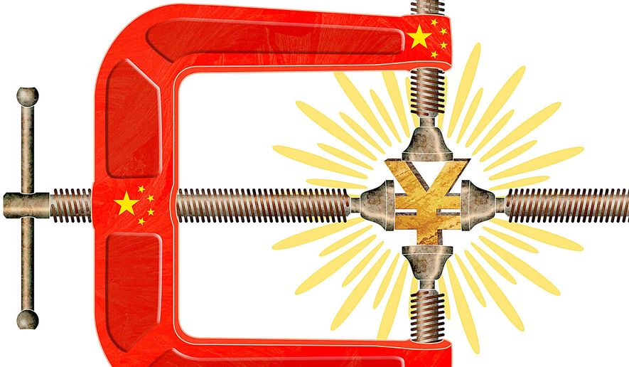 China Devalues the Yuan Illustration by Greg Groesch/The Washington Times