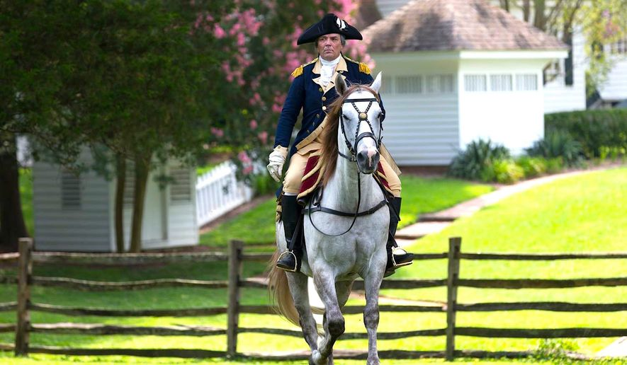 The Colonial Williamsburg Foundation has sent its official George Washington impersonator and his horse to Iowa with a message of civility for voters.