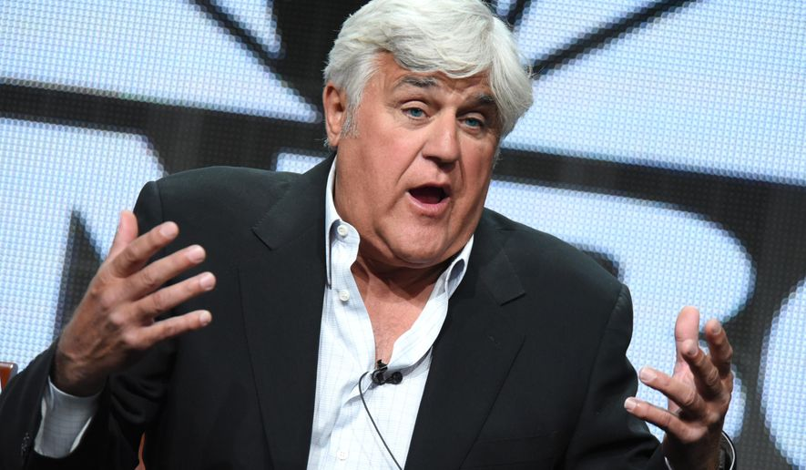 "Jay Leno participates in the ""Jay Leno's Garage"" panel at the The NBCUniversal Summer TCA Tour at the Beverly Hilton Hotel on Thursday, Aug. 13, 2015, in Beverly Hills, Calif. (Photo by Richard Shotwell/Invision/AP)"
