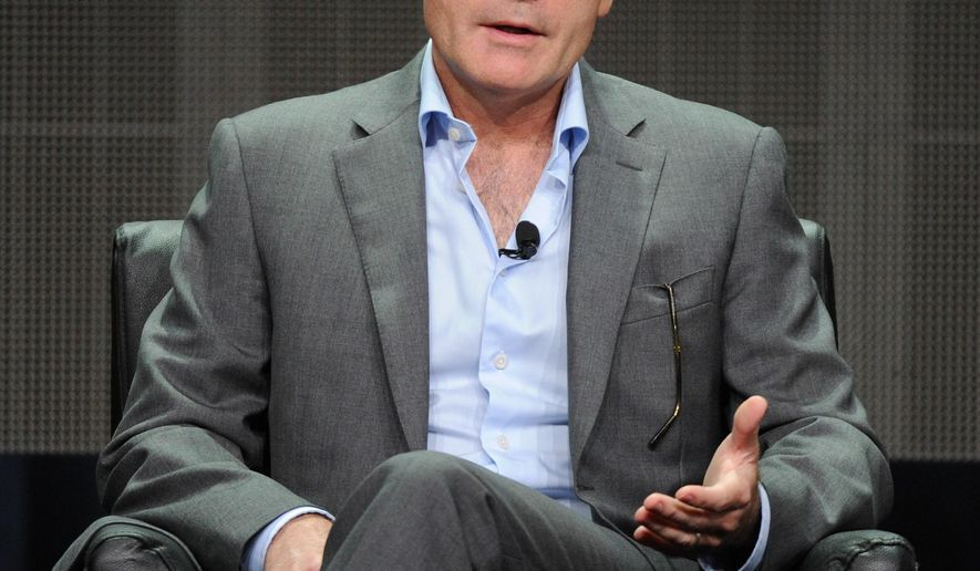 FILE - In this Friday, Aug. 7, 2015 file image released by FX, John Landgraf, CEO of FX Networks & FX Productions speaks during the Executive Session panel at the 2015 FX Summer TCA at the Beverly Hilton Hotel in Beverly Hills, Calif. Landgraf forecast that, during 2015, the growing number of scripted series on the air is likely to surpass 400. (Frank Micelotta/FX via AP, File)