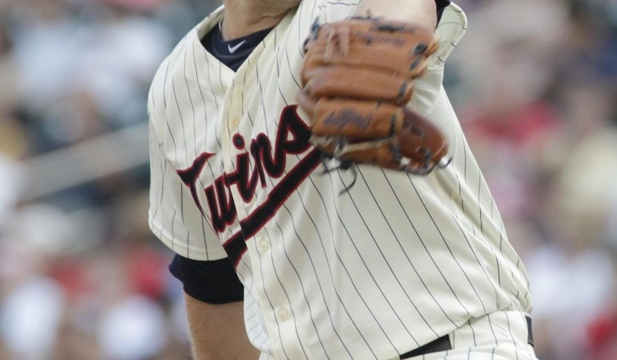 Minnesota Twins starting pitcher Tyler Duffeydelivers against the Cleveland Indians during the first inning of a baseball game Saturday, Aug. 15, 2015, in Minneapolis. AP Photo/Paul Battaglia)