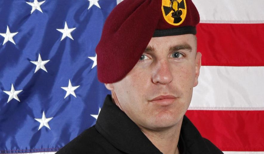 Sgt. 1st Class Corey Hood, a parachutist the Army Golden Knights, had logged more than 200 free fall jumps and 75 military static line jumps during his career, according to his Army biography. (Associated Press)