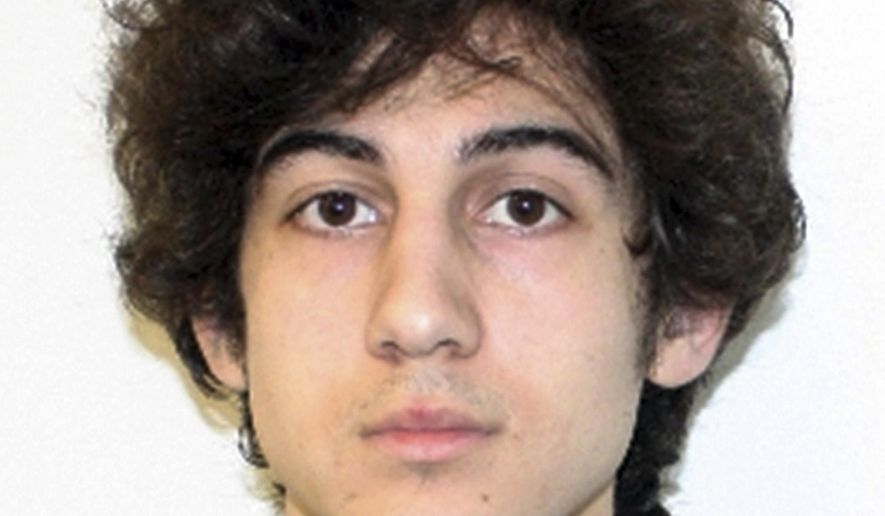 FILE - This file photo released April 19, 2013 by the Federal Bureau of Investigation shows Boston Marathon bombing suspect Dzhokhar Tsarnaev, convicted of 30 federal charges in the 2013 bombing at the marathon finish line that killed three people and injured more than 260. Defense lawyers for Tsarnaev said in a court filing Monday, Aug. 17, 2015, saying that the Boston Marathon bomber deserves a new trial in a different location where jurors will be impartial. (Federal Bureau of Investigation via AP, File)