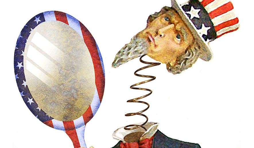 Illustration on the root cause of our dysfunctional government by Alexander Hunter/The Washington Times
