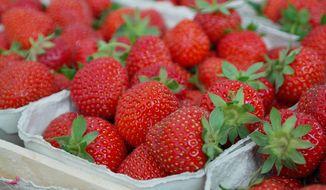 Pound of fresh strawberries.