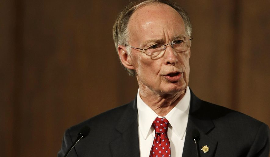 Alabama Gov. Robert Bentley speaks at the Capitol in Montgomery on March 3, 2015. (Associated Press) **FILE**
