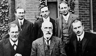 Which man is honest? Friendly? Cold and domineering? Competent? (Public domain image of famous psychologists)