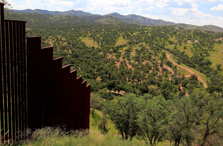 another brick: GOP presidential candidate Donald Trump is in favor of finishing a massive wall separating the southern U.S. border from Mexico — and making Mexicans float the bill for its construction.