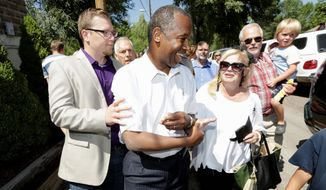 """Republican presidential candidate Ben Carson took the EPA to task for the toxic spill that affected rivers and drinking water across much of the Southwest. """"Under my administration  I would  bring in people who understand the Constitution,"""" he said. (Jerry McBride/The Durango Herald/Associated Press)"""