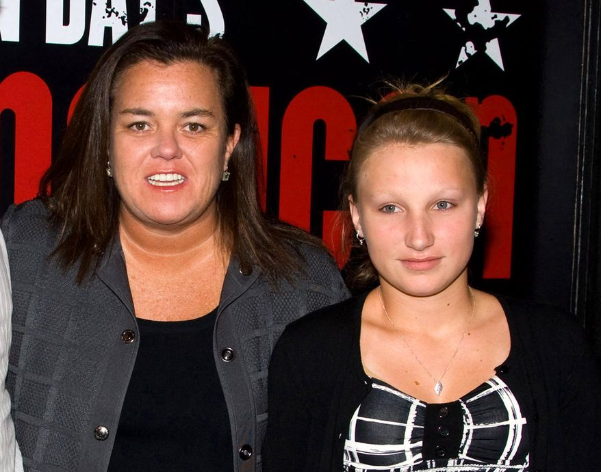 """In this April 20, 2010, file photo, Rosie O'Donnell, left, poses with her daughter Chelsea at the opening night performance of the Broadway musical """"American Idiot"""" in New York. (AP Photo/Charles Sykes, File)"""