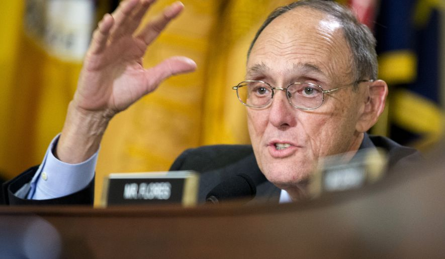 "Rep. Phil Roe, R-Tenn., questions witnesses during a House Committee on Veterans' Affairs hearing on ""Scheduling Manipulation and Veteran Deaths in Phoenix: Examination of the OIG's Final Report"" on Capitol Hill in Washington, Wednesday, Sept. 17, 2014.  (AP Photo/Manuel Balce Ceneta)"