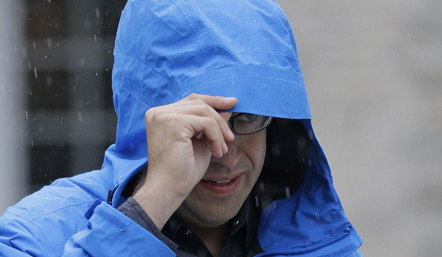 FILE - In this July 7, 2015, file photo, Subway restaurant spokesman Jared Fogle walks to a waiting car as he leaves his home in Zionsville, Ind. Fox 59 television station reported Tuesday, Aug. 18 that the Subway pitchman is expected to plead guilty to child-pornography charges, citing sources it did not identify. (AP Photo/Michael Conroy, File)