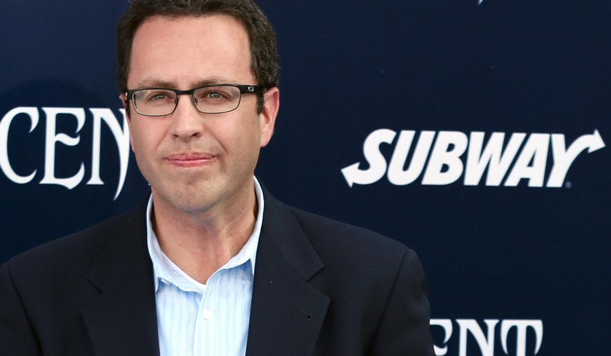 "In this May 28, 2014 photo, Subway restaurant spokesman Jared Fogle arrives at the world premiere of ""Maleficent"" at the El Capitan Theatre in Los Angeles. (Photo by Matt Sayles/Invision/AP)"