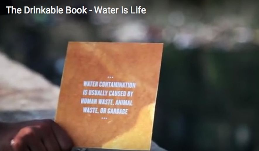 "(Screen grab from ""The Drinkable Book"" website)"