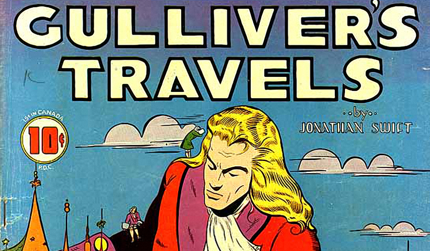 Gulliver's Travels comic. Image in the public domain.
