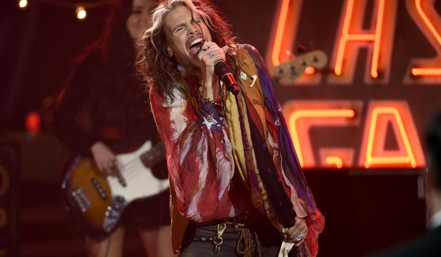 FILE - In this May 13, 2015 file photo, Steven Tyler performs at the American Idol XIV finale in Los Angeles. Tyler will be performing along with country band Loving Mary at the inaugural Pilgrimage Music & Cultural Festival in Tennessee. The two-day festival on a horse farm in Franklin will be held Sept. 26-27 and will also feature Willie Nelson, Sheryl Crow, Wilco, Weezer and The Decemberists. (Photo by Chris Pizzello/Invision/AP, File)