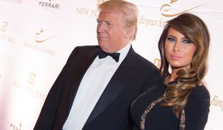 Donald Trump and his wife of 10 years Melania. (Photo by Scott Roth/Invision/AP)