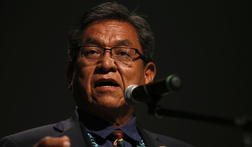 """This is totally unacceptable. How can anybody give water from a tank like this that was clearly an oil tank and expect us to drink it, our animals to drink it? And to contaminate our soil with this?"" said Navajo Nation President Russell Begaye. ""It's just wrong. Clearly, it's wrong."" (Associated Press)"
