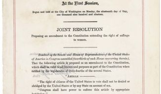 Congressional resolution on voting rights.