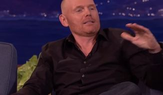 """Comedian Bill Burr took on the pronoun police in full force since Caitlyn Jenner's public transition from a man to a woman, lamenting on """"Conan"""" Thursday night that expressing any level of shock makes you a homophobe. (YouTube/Team Coco)"""